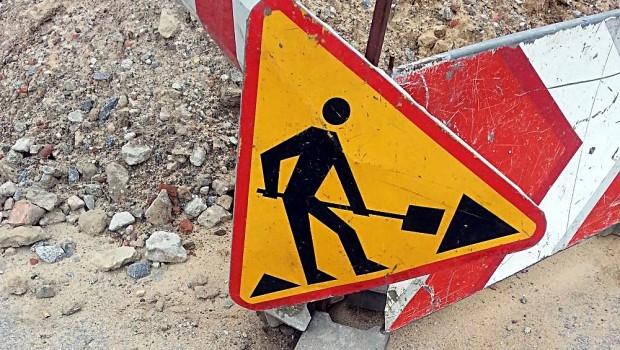 Utrudnienia na drodze powiatowej
