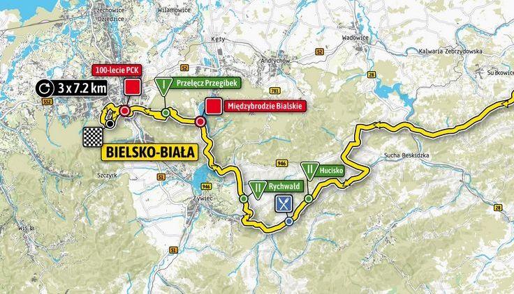 Meta jednego z etapów tegorocznego Tour de Pologne w Bielsku-Białej