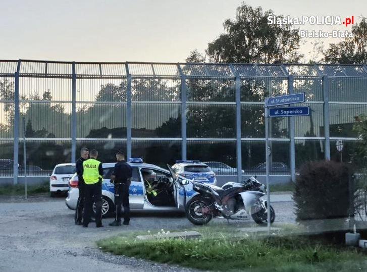 Policja przez 20 km ścigała uciekającego motocyklistę