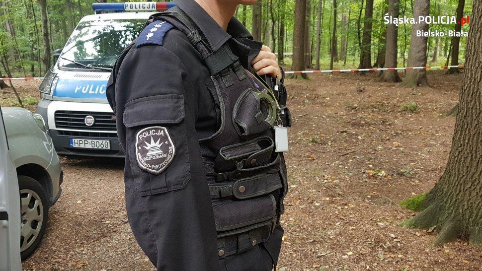 Zbierał grzyby, znalazł minę. Policja zabezpiecza niebezpieczne znalezisko