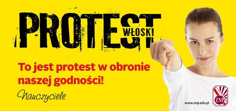 Nauczyciele rozpoczęli protest włoski!