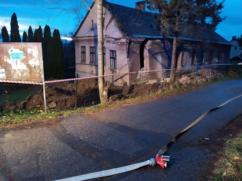 Zawalił się budynek starego przedszkola