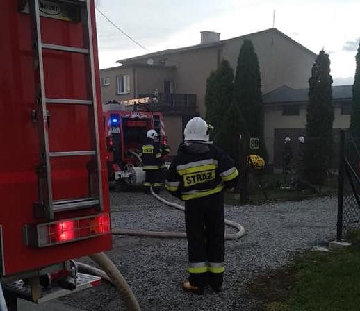 Pożar kotłowni w domu jednorodzinnym