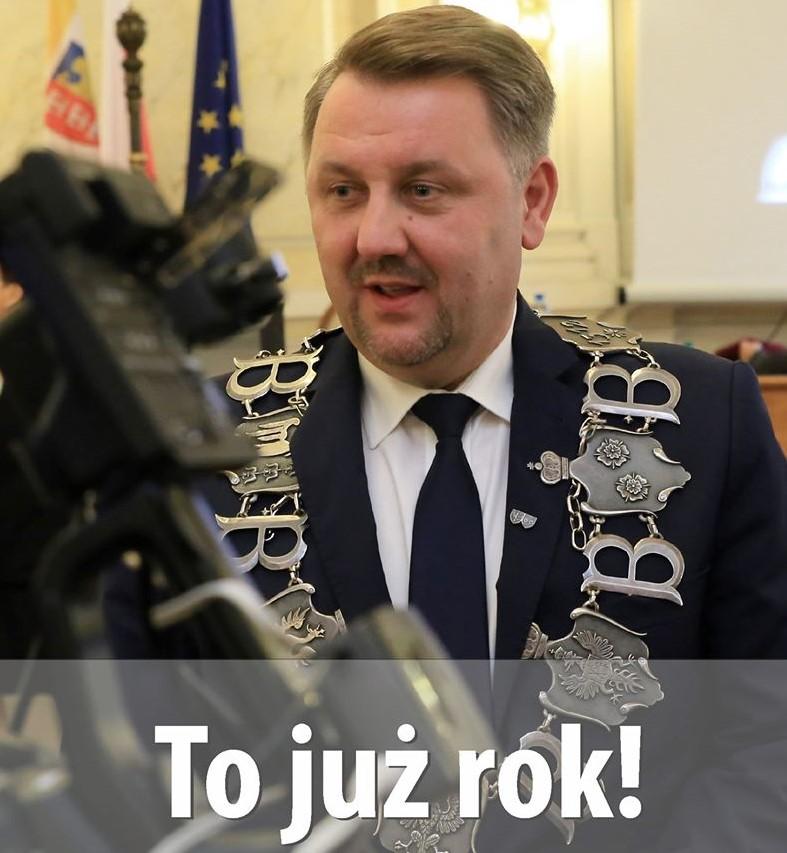Jarosław Klimaszewski podsumował rok swojej prezydentury