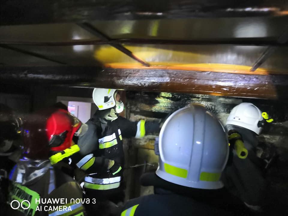 Pożar w Lipowej. Palił się drewniany dom
