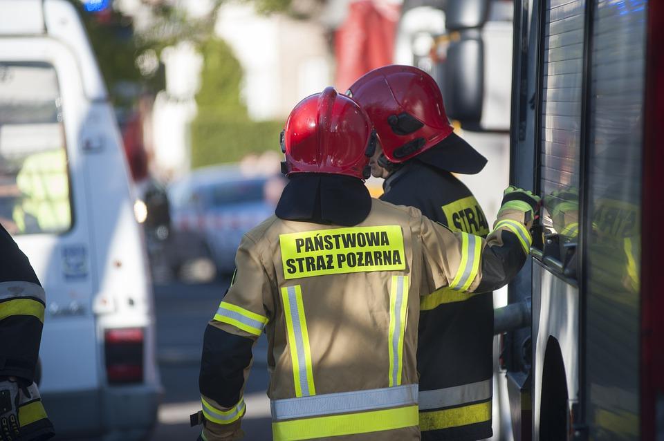 Pożar kamienicy w Bielsku-Białej