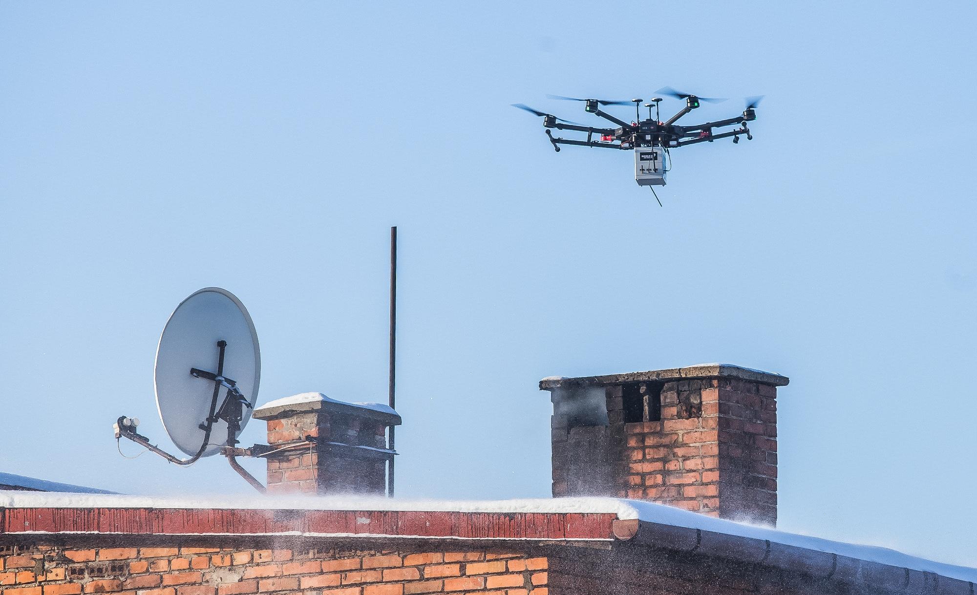 UWAGA! Dron nad bielskimi kominami