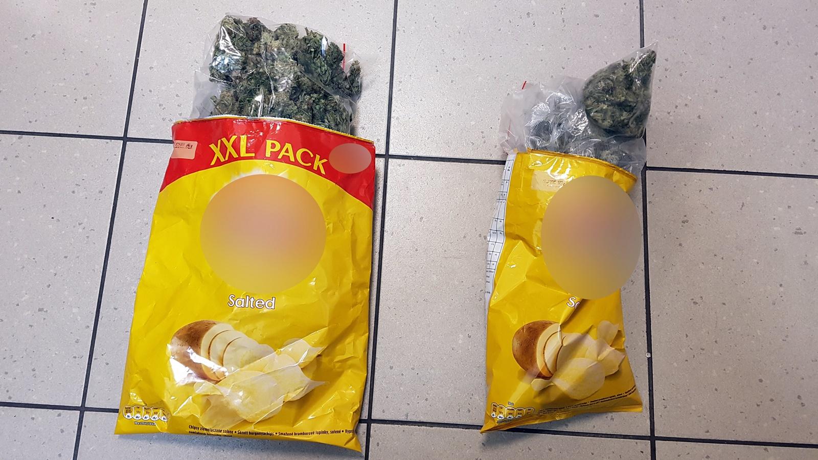 Marihuana w paczce chipsów
