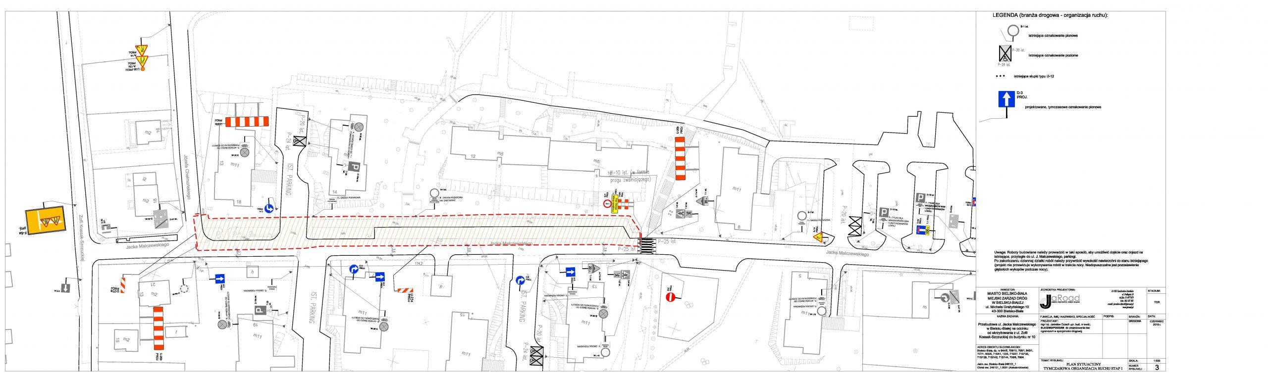 Przebudowa bielskiej ulicy - od 13 maja tymczasowa organizacja ruchu