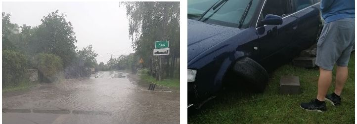 Fatalne warunki na drogach. Niektóre zalane. Sypią się kolizje