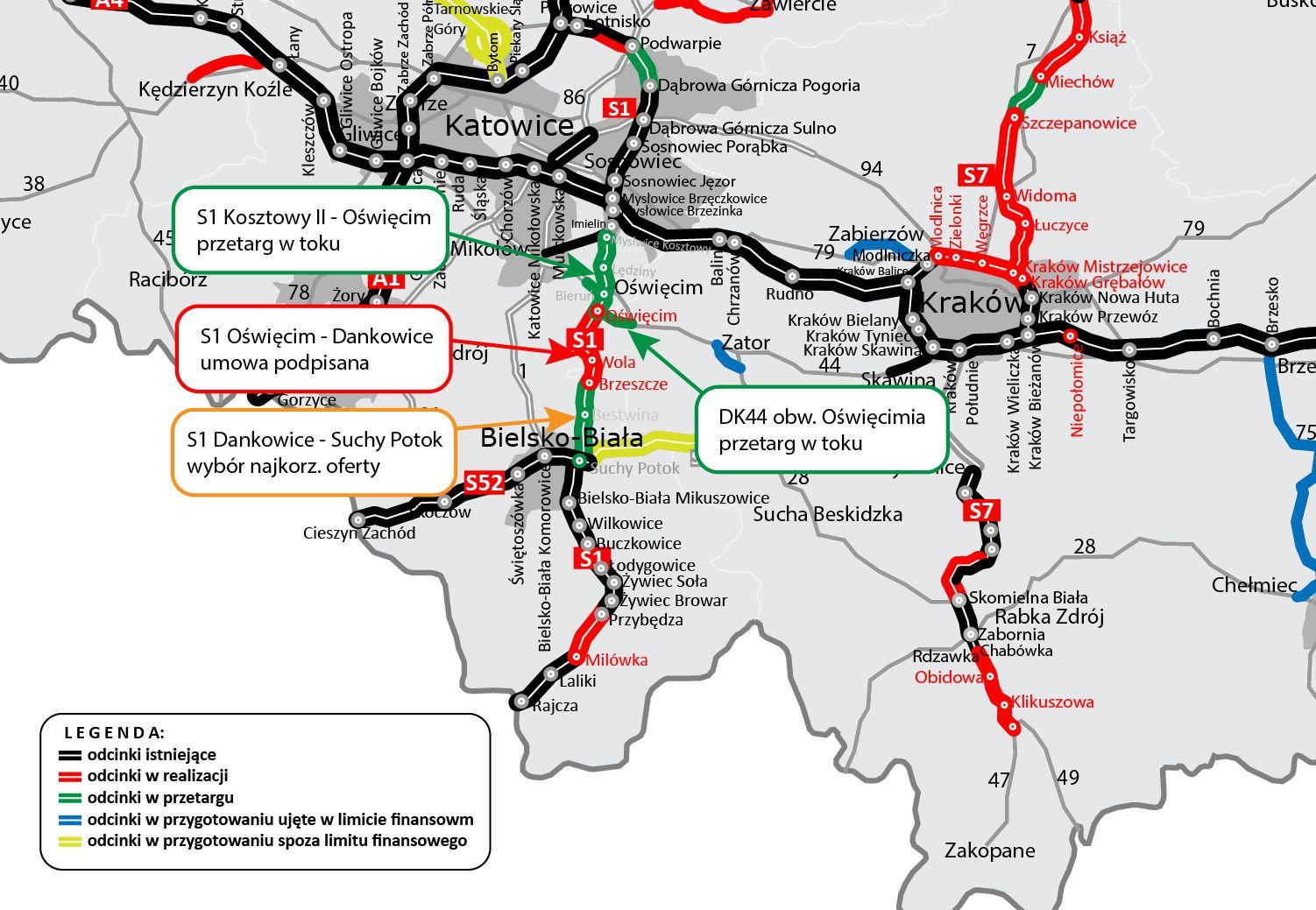 Wybrano wykonawcę budowy S1 od Dankowic do Bielska-Białej