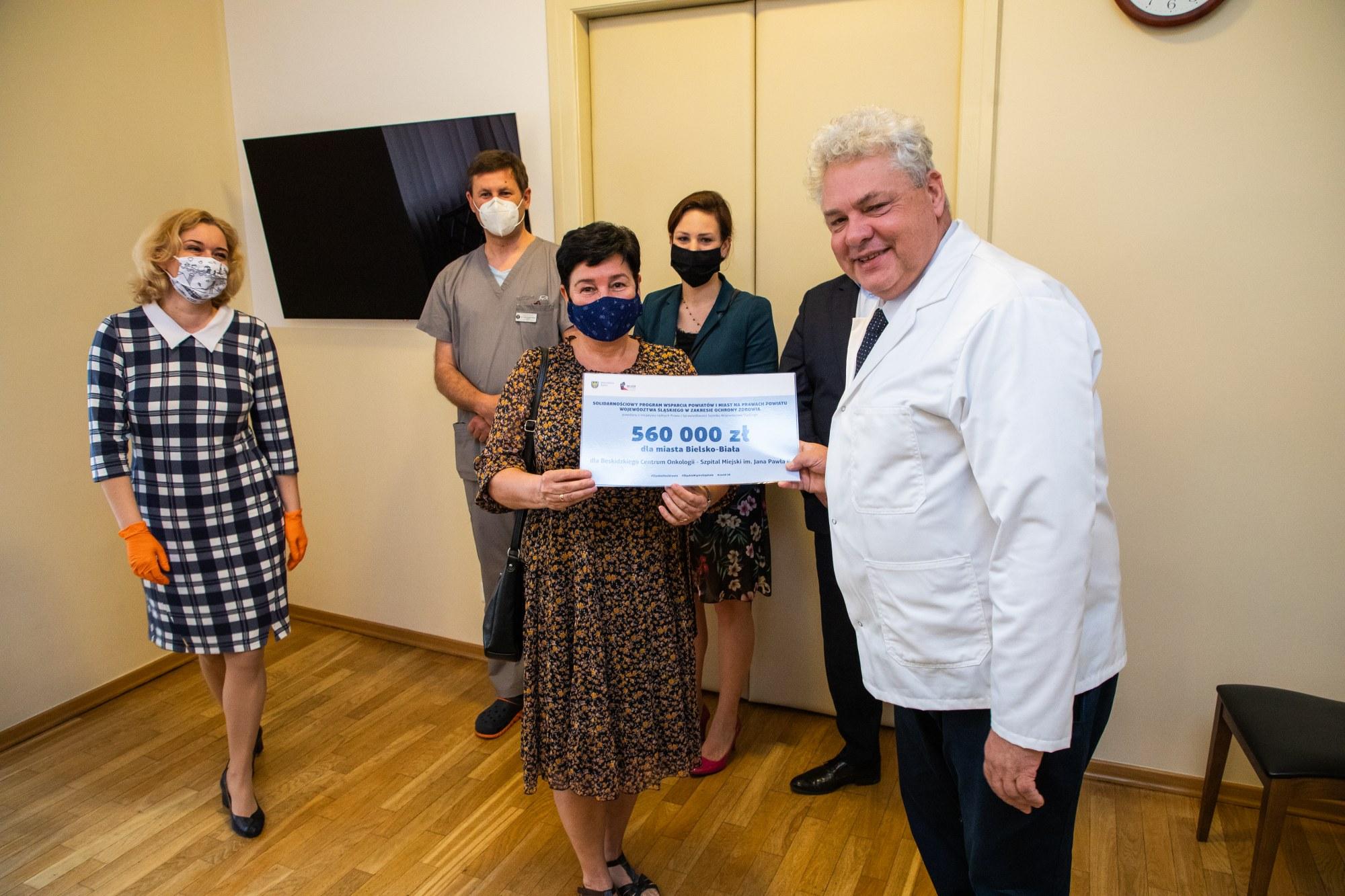 Dwa bielskie szpitale z dofinansowaniem na środki do walki z covid-19