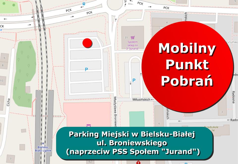 W Bielsku-Białej uruchomiono mobilny punkt pobrań wymazów