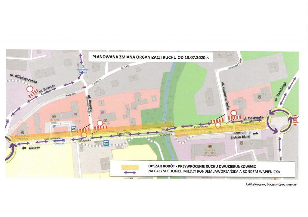 Kolejne zmiany na ulicy Cieszyńskiej