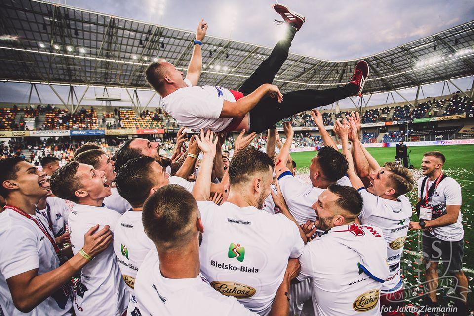 Tak Podbeskidzie cieszyło się z awansu do Ekstraklasy [VIDEO]
