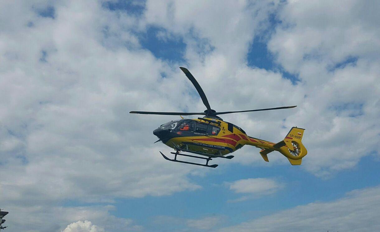 Śmigłowiec LPR wezwano do poszkodowanego w wypadku