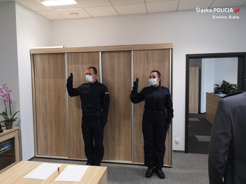 Nowy policjanci złożyli ślubowanie [FOTO]