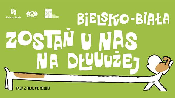Reksio z billboardów będzie zachęcał do zostania w Bielsku na dłużej