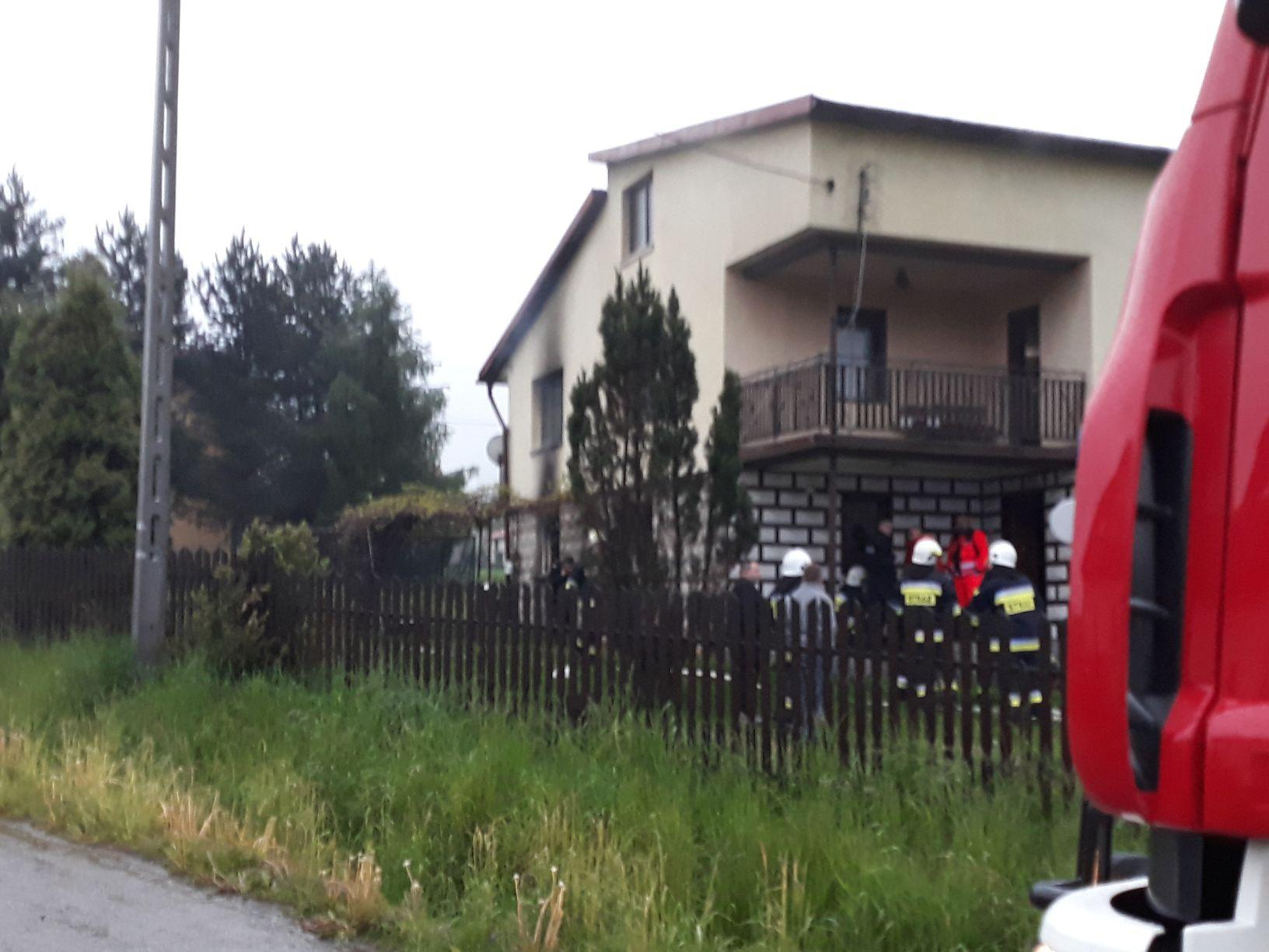 Pożar domu w Czańcu, jedna osoba nie żyje