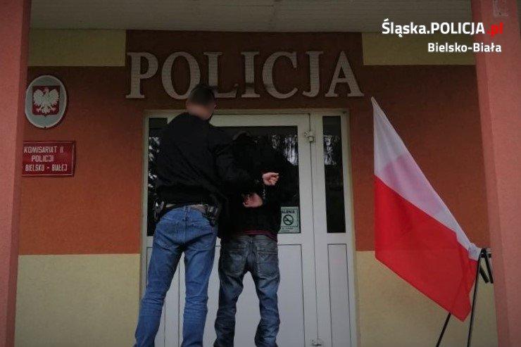 Groźny bandyta zatrzymany przez bielskich policjantów