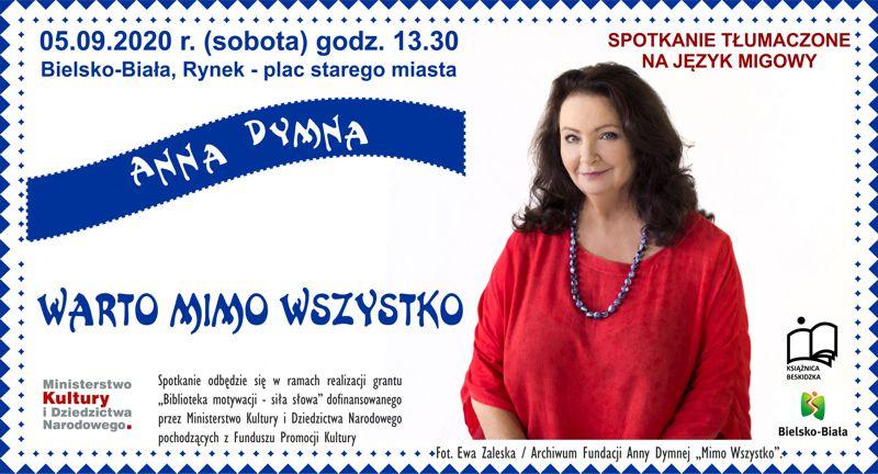 Anna Dymna spotka się z mieszkańcami Bielska-Białej