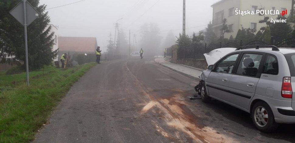Trzy osoby poszkodowane w wypadku