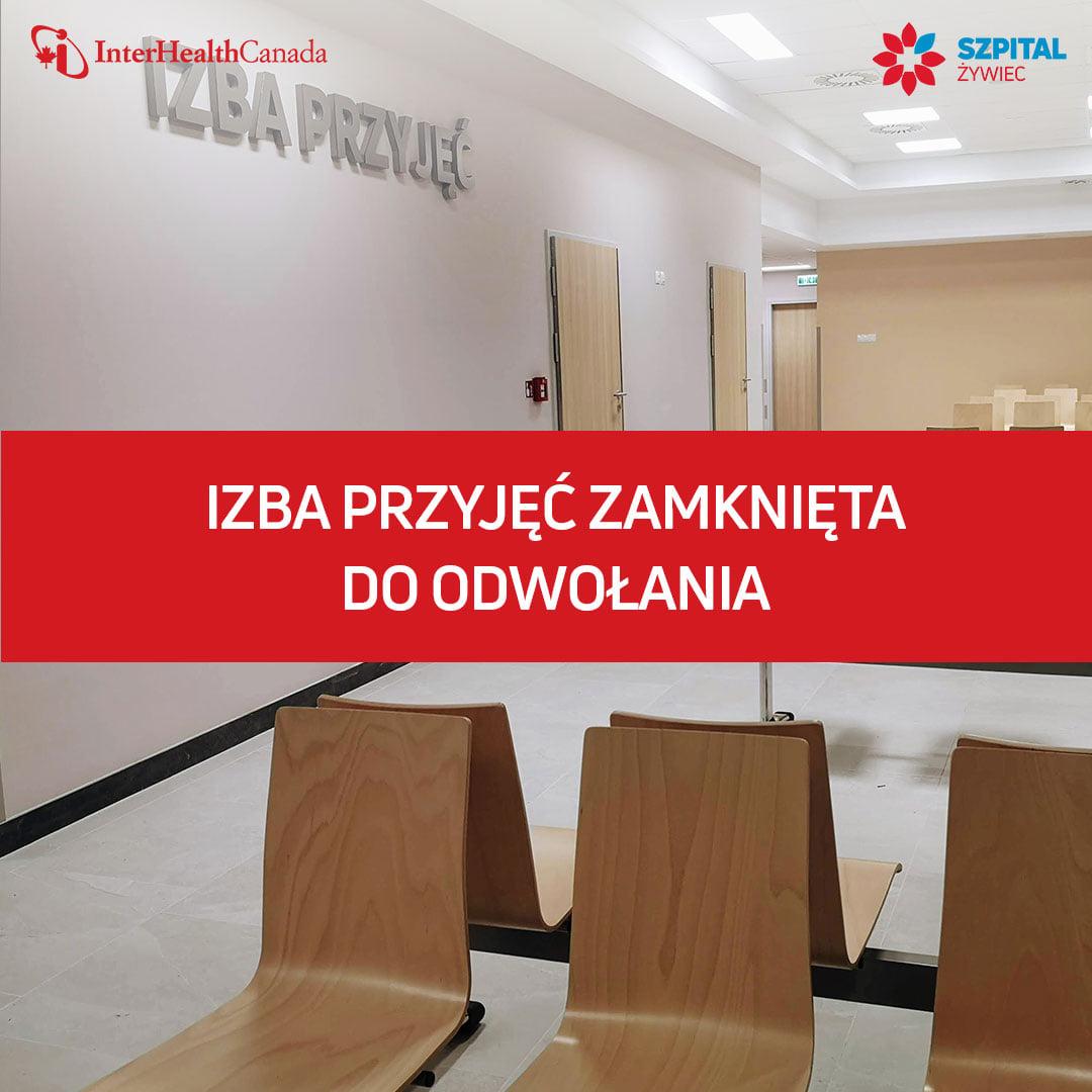 Działalność Izby Przyjęć nowego szpitala zawieszona