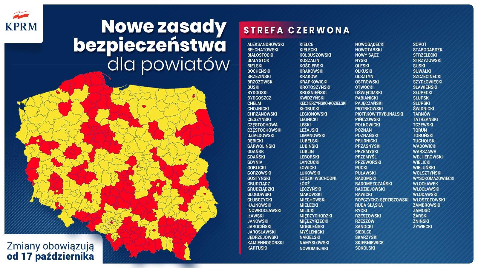 Powiaty żywiecki i cieszyński w czerwonej strefie. Nowe restrykcje