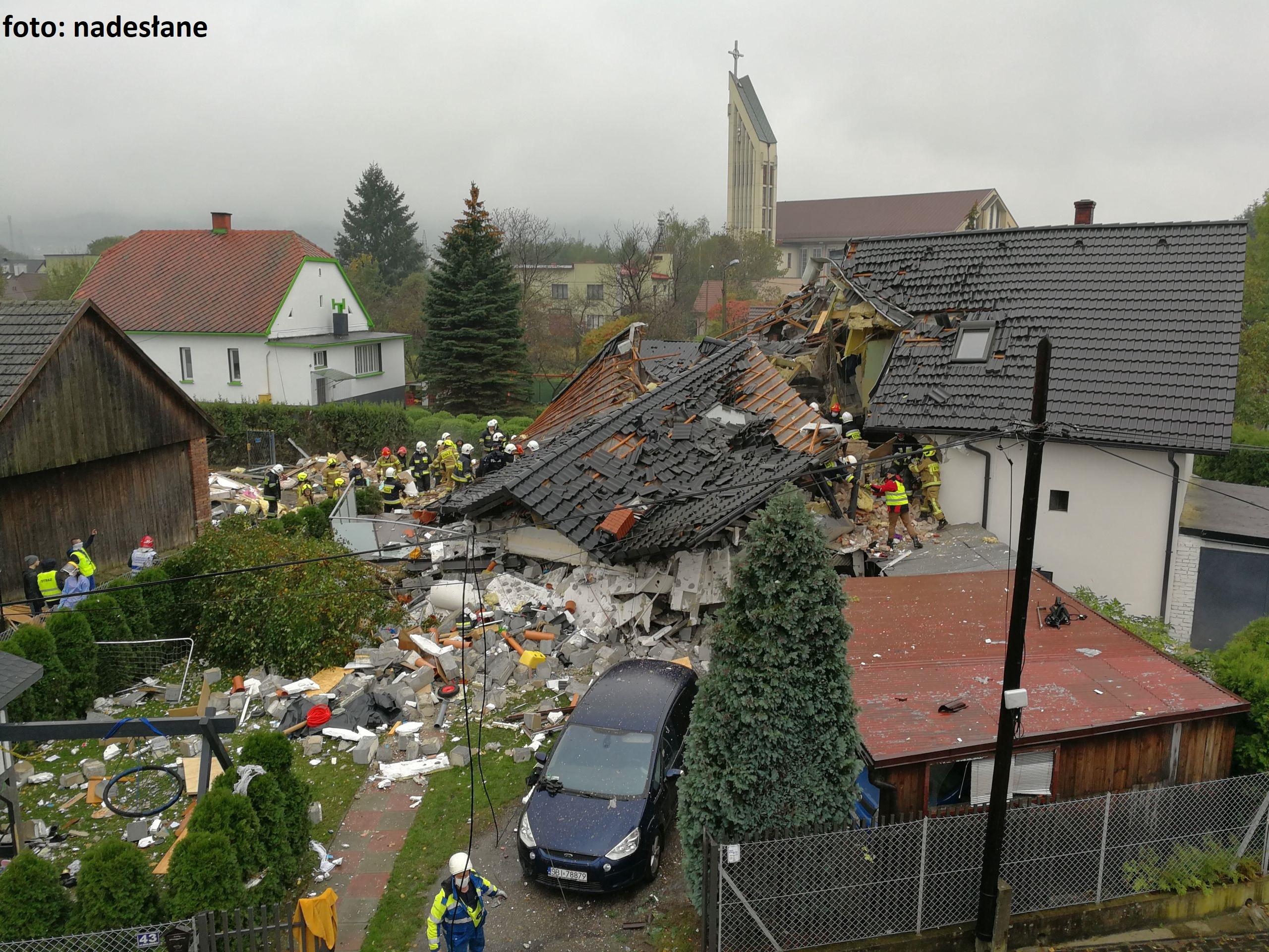 Wybuch gazu w budynku w Kobiernicach [FOTO] [AKTUALIZACJA]