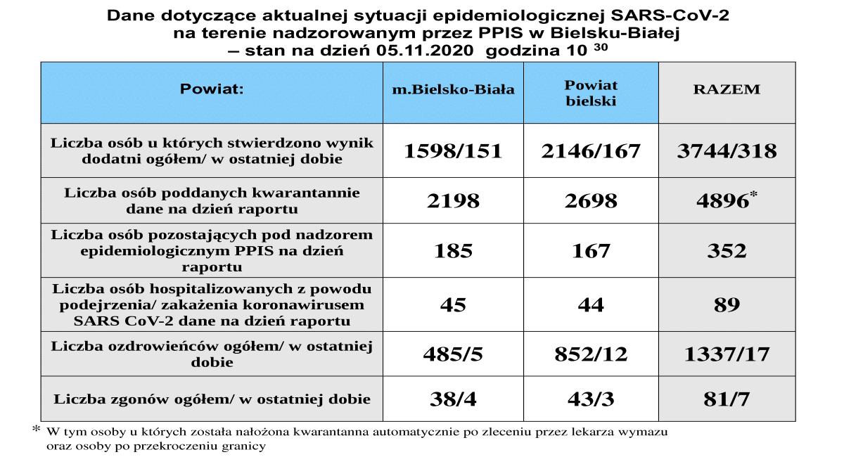 Koronawirus. Ponad 400 nowych przypadków w powiatach bielskim i żywieckim
