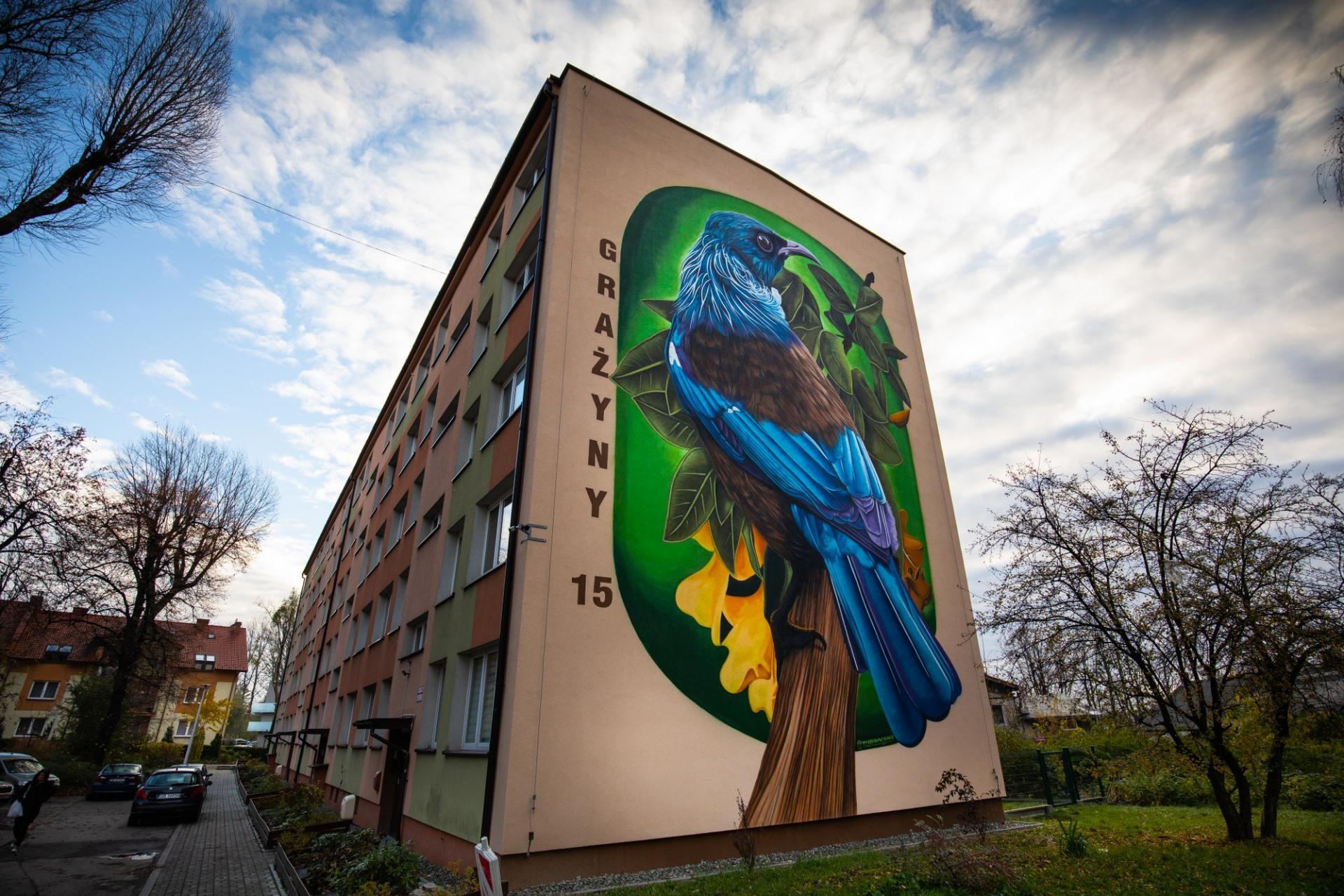 Mural na bielskim bloku robi wrażenie