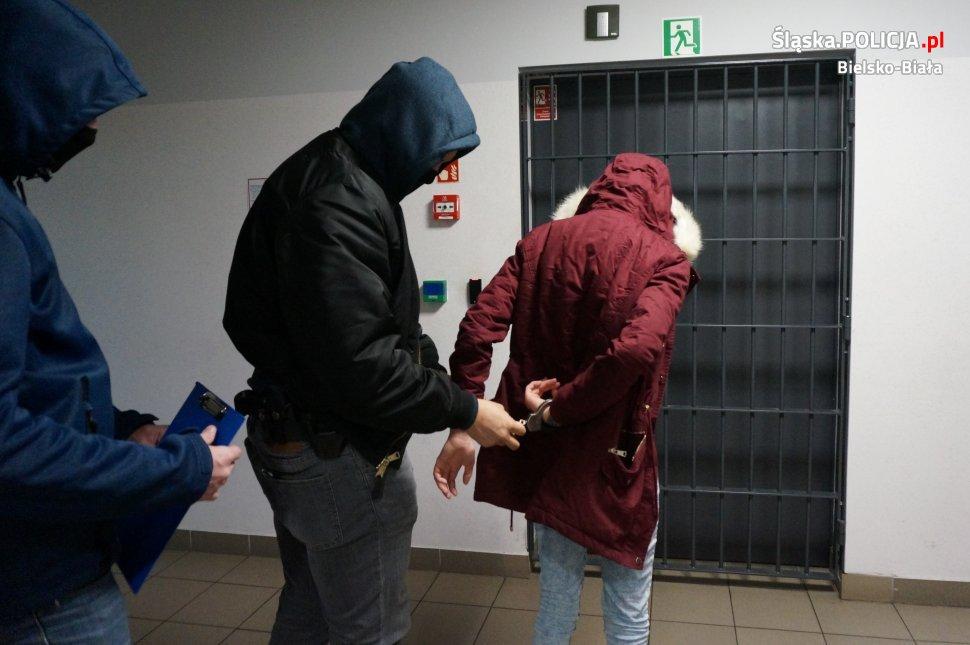 Znieważyła policjanta, kiedy patrol zatrzymał jej koleżankę za narkotyki