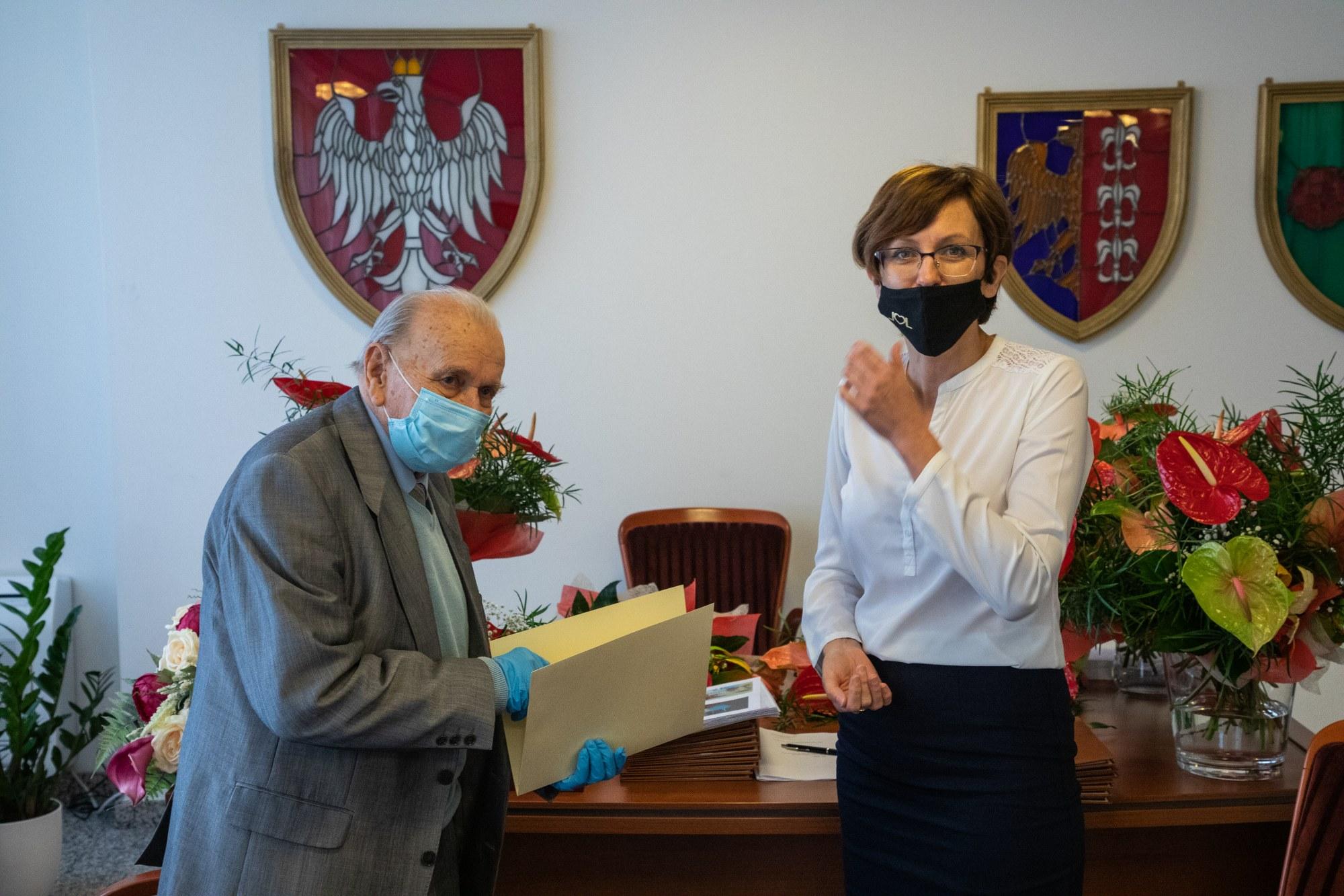 Halina i Gustaw Lorkowie świętowali 70-lecie pożycia małżeńskiego