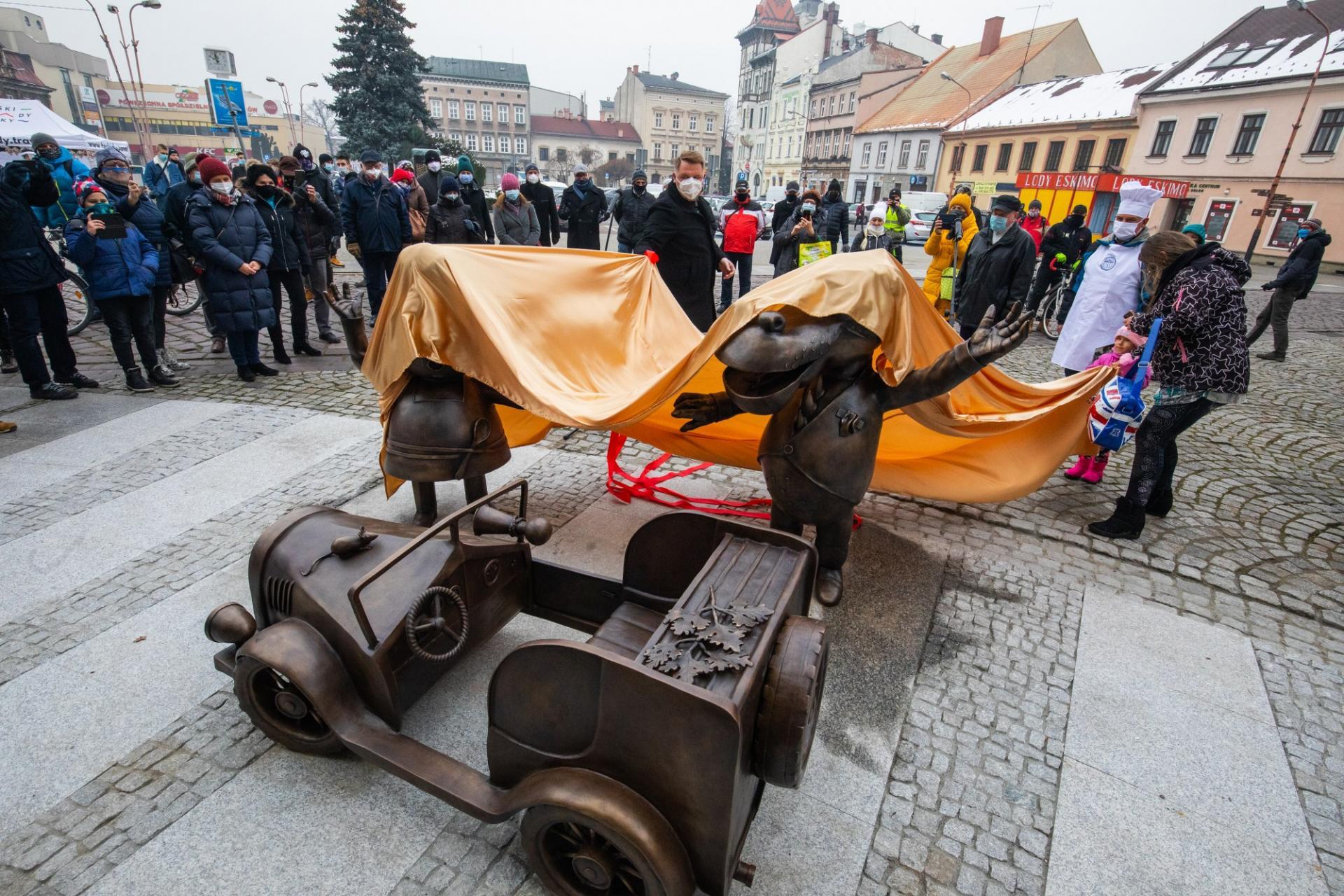 Kolejna bajkowa rzeźba odsłonięta w Bielsku-Białej [FOTO]