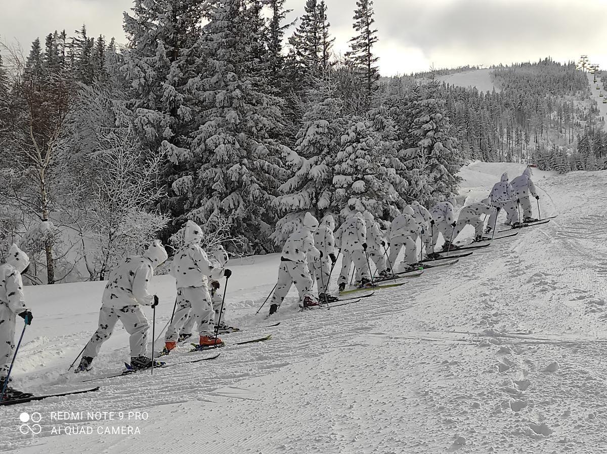 Szkolenie żołnierzy w Beskidach