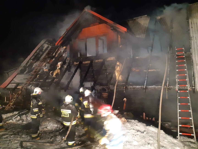 Ogromne straty po pożarze domu