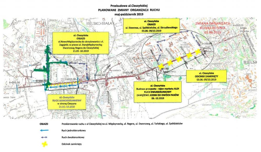 Kolejne utrudnienia na remontowanej bielskiej drodze