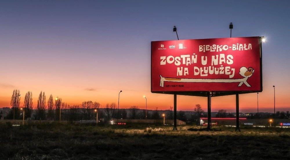 Reksio reklamuje stolicę Podbeskidzia
