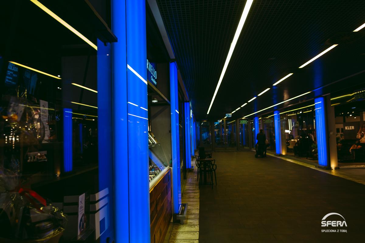 Galeria Sfera rozświetli się na niebiesko
