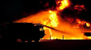 Duży pożar zakładu