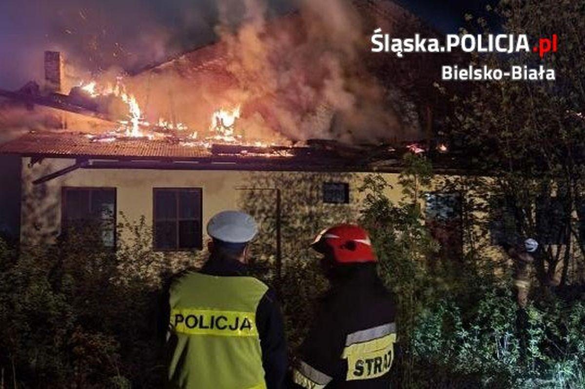 Szczegóły dotyczące nocnego pożaru w Bielsku-Białej
