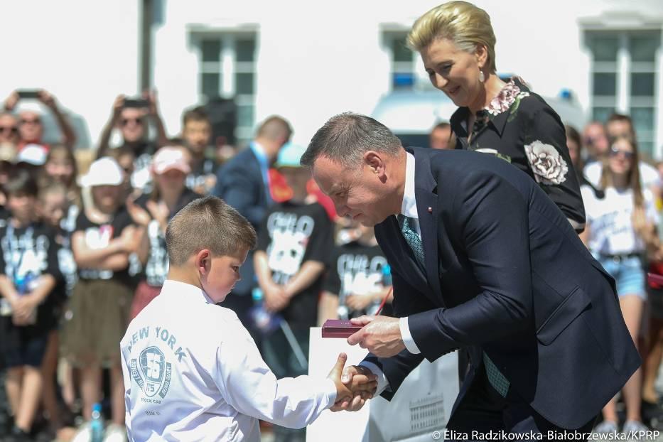 Prezydent odznaczył 6-letniego bohatera