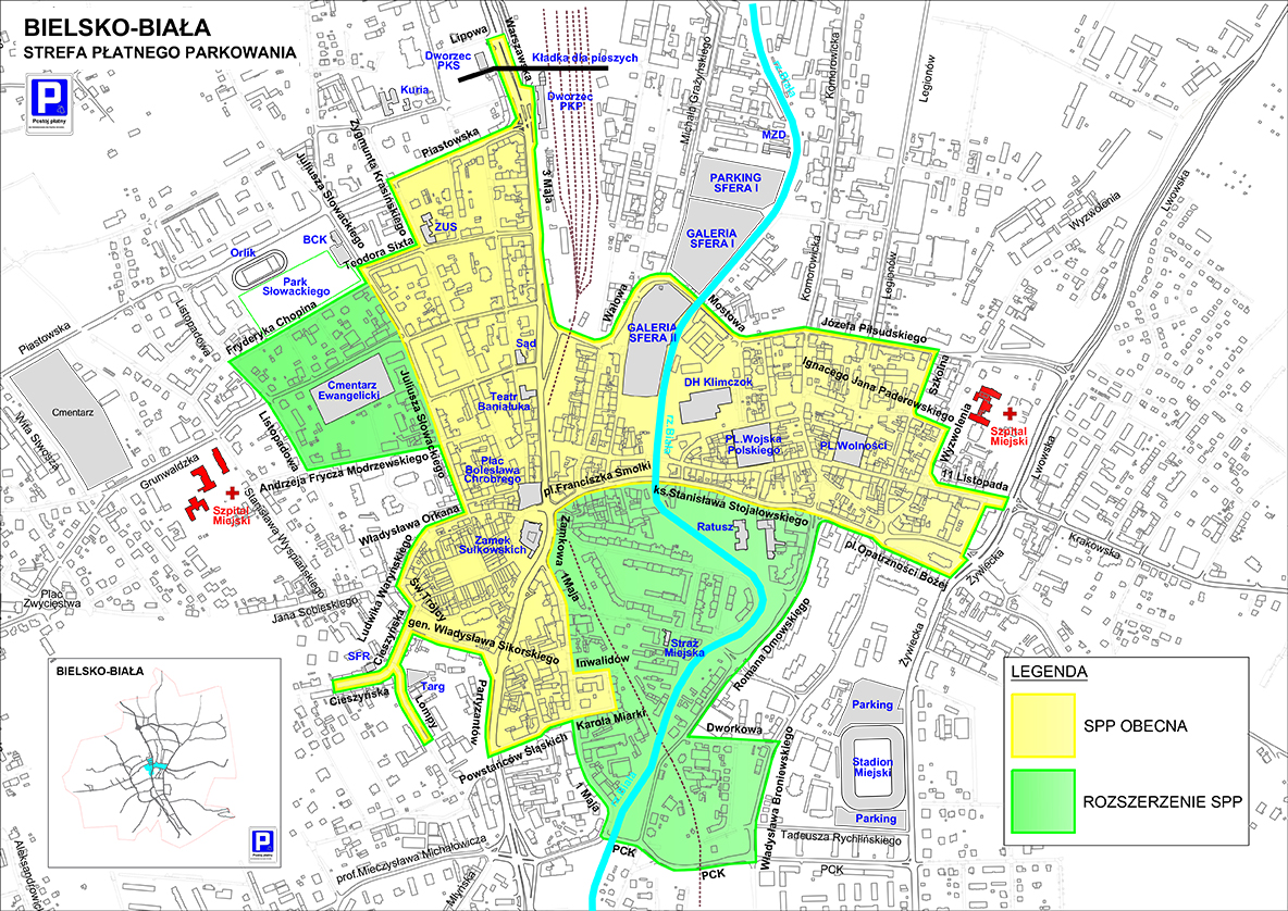 Od lipca większa strefa płatnego parkowania w Bielsku-Białej