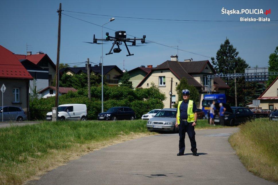 Policyjny dron nad bielskimi ulicami