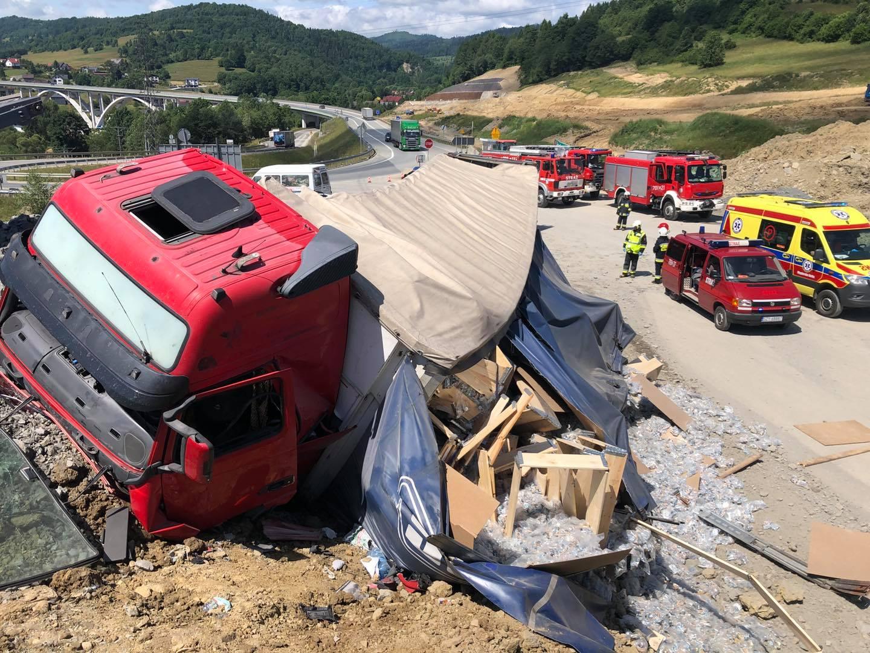 Wypadek na budowie drogi