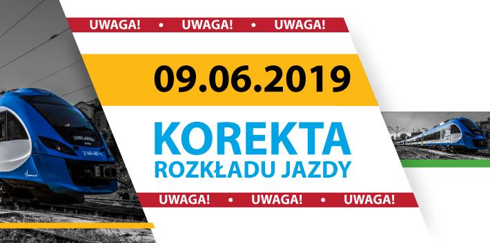 Od 9 czerwca nowy rozkład jazdy pociągów