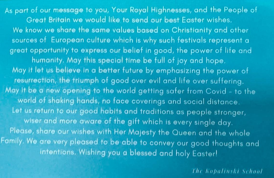 Uczniowie napisali list do księżnej Kate i księcia Williama. I dostali odpowiedź!
