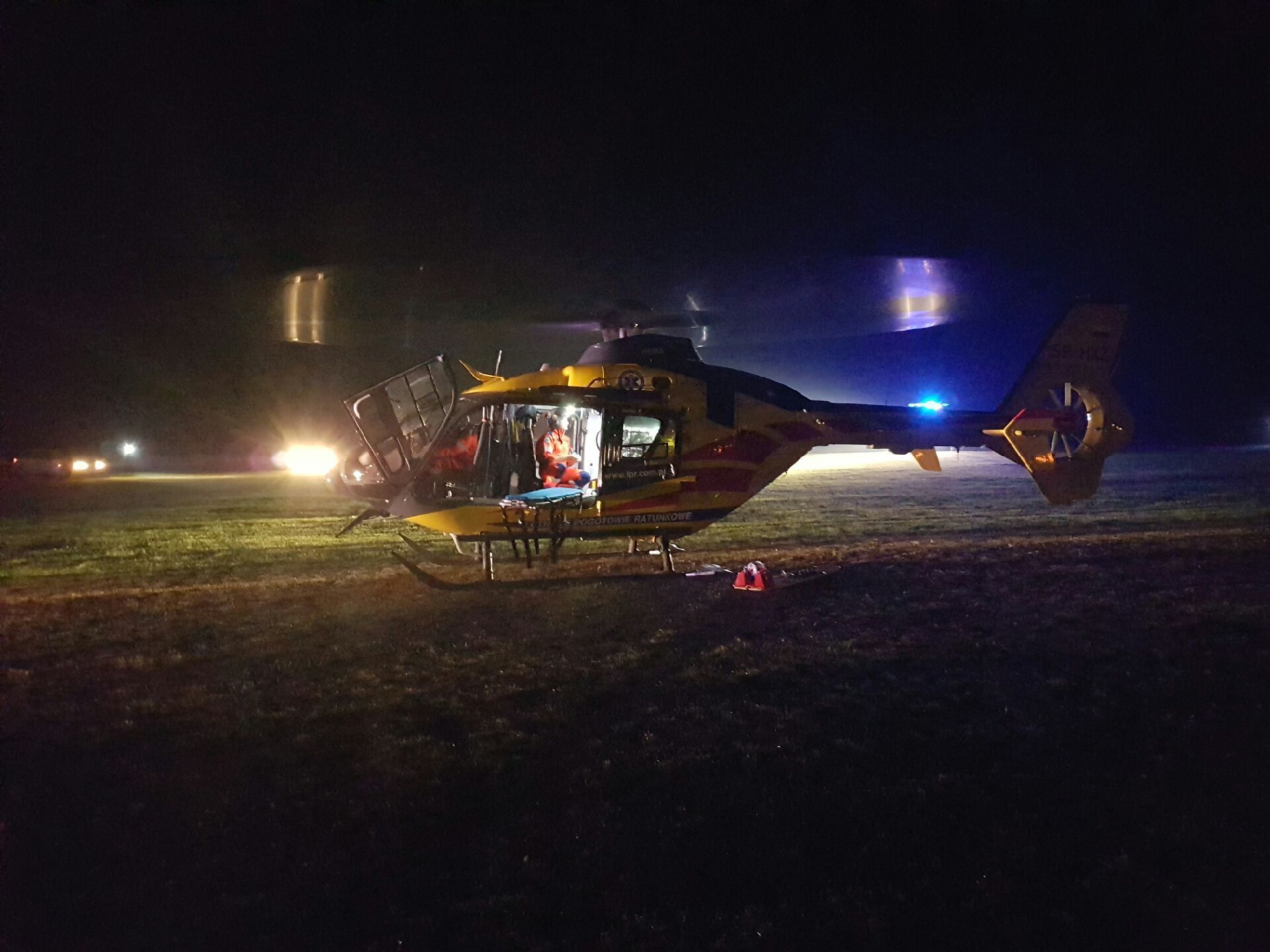 Poparzony 13-latek zabrany śmigłowcem do szpitala