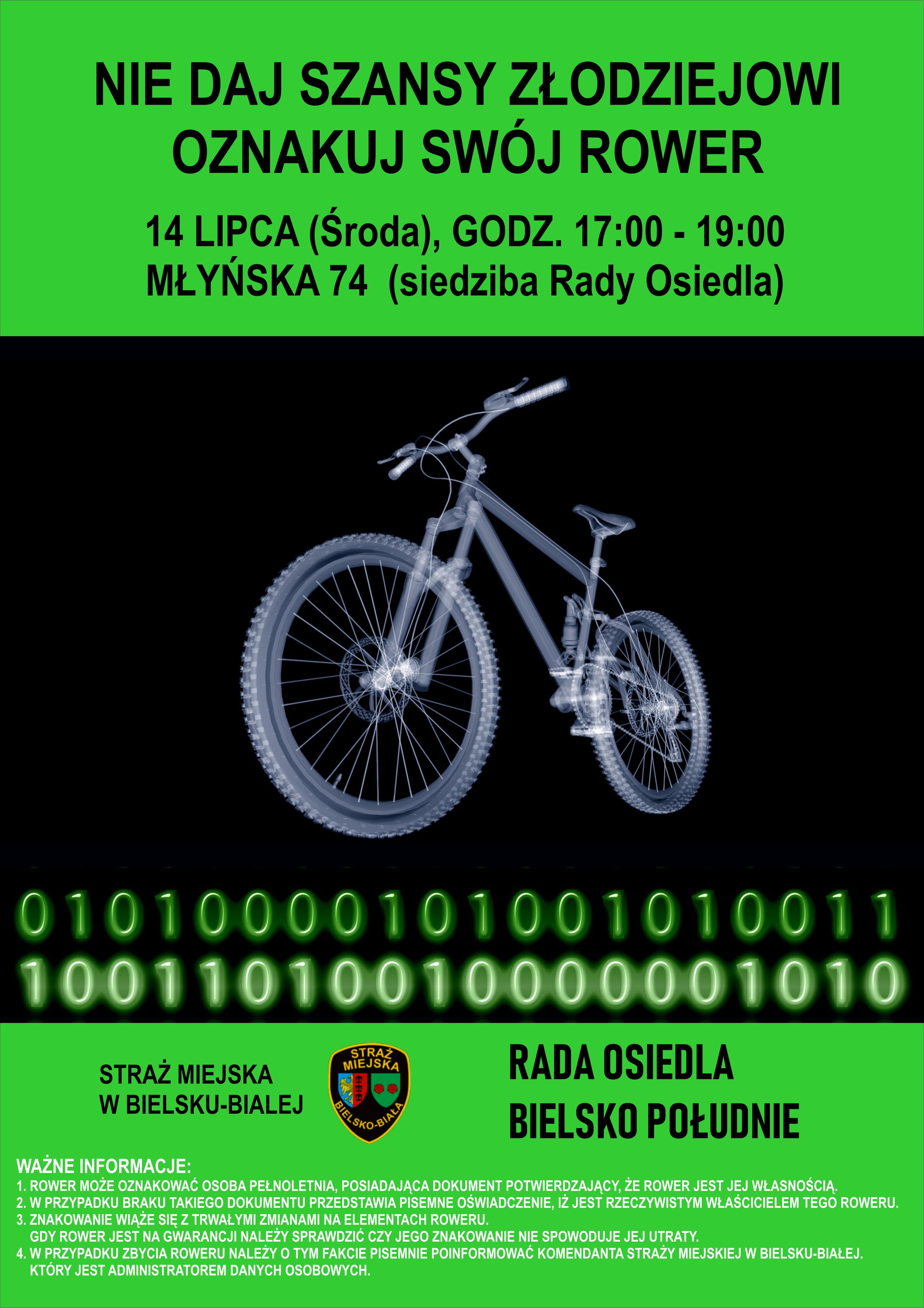 Dziś akcja znakowania rowerów