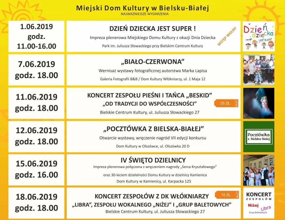 Najbliższe wydarzenia organizowane przez Miejski Dom Kultury w Bielsku-Białej